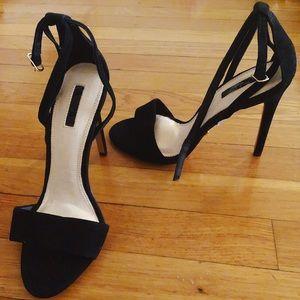 Top Shop Black Strappy Heels